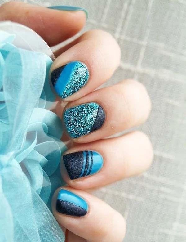 image24-6 | 37 идей синего маникюра на ногти разной формы и длины — найди лучшее решение