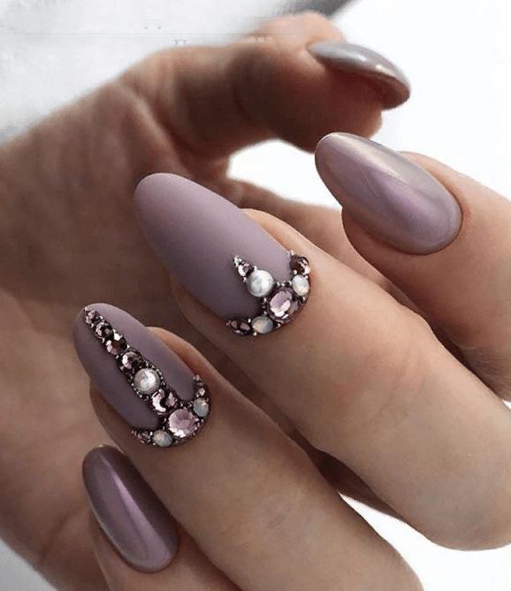 image25-4 | 38 идей матового маникюра на миндалевидные ногти