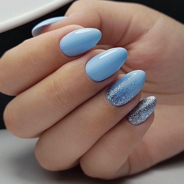 image31-5 | 37 идей синего маникюра на ногти разной формы и длины — найди лучшее решение