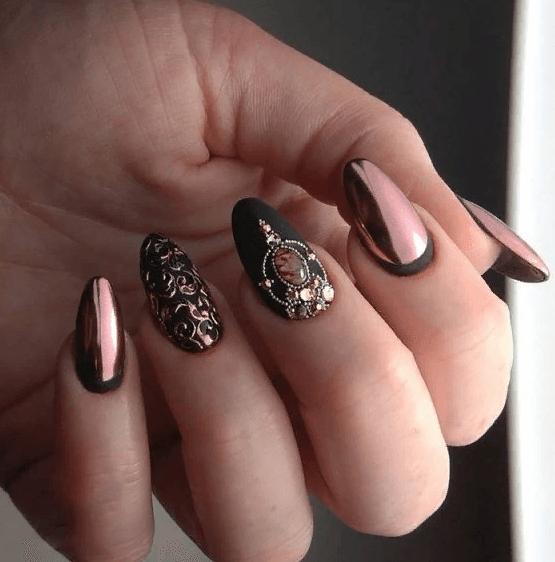 image34-4 | 38 идей матового маникюра на миндалевидные ногти