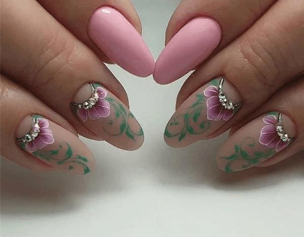 image4-4 | 38 идей матового маникюра на миндалевидные ногти