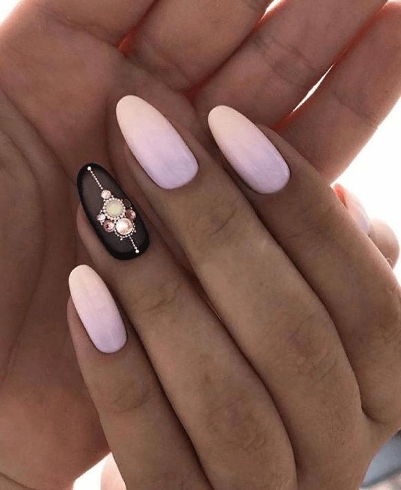 image6-4 | 38 идей матового маникюра на миндалевидные ногти