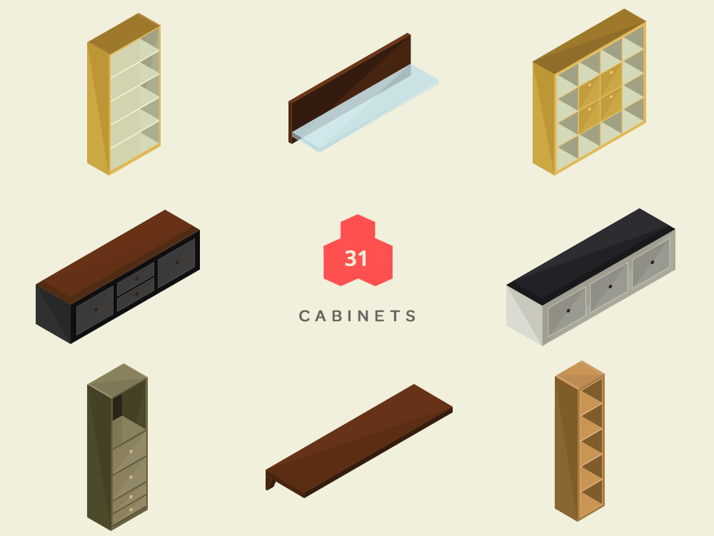 Isometric Cabinets