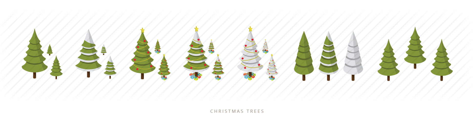isometric christmas tree