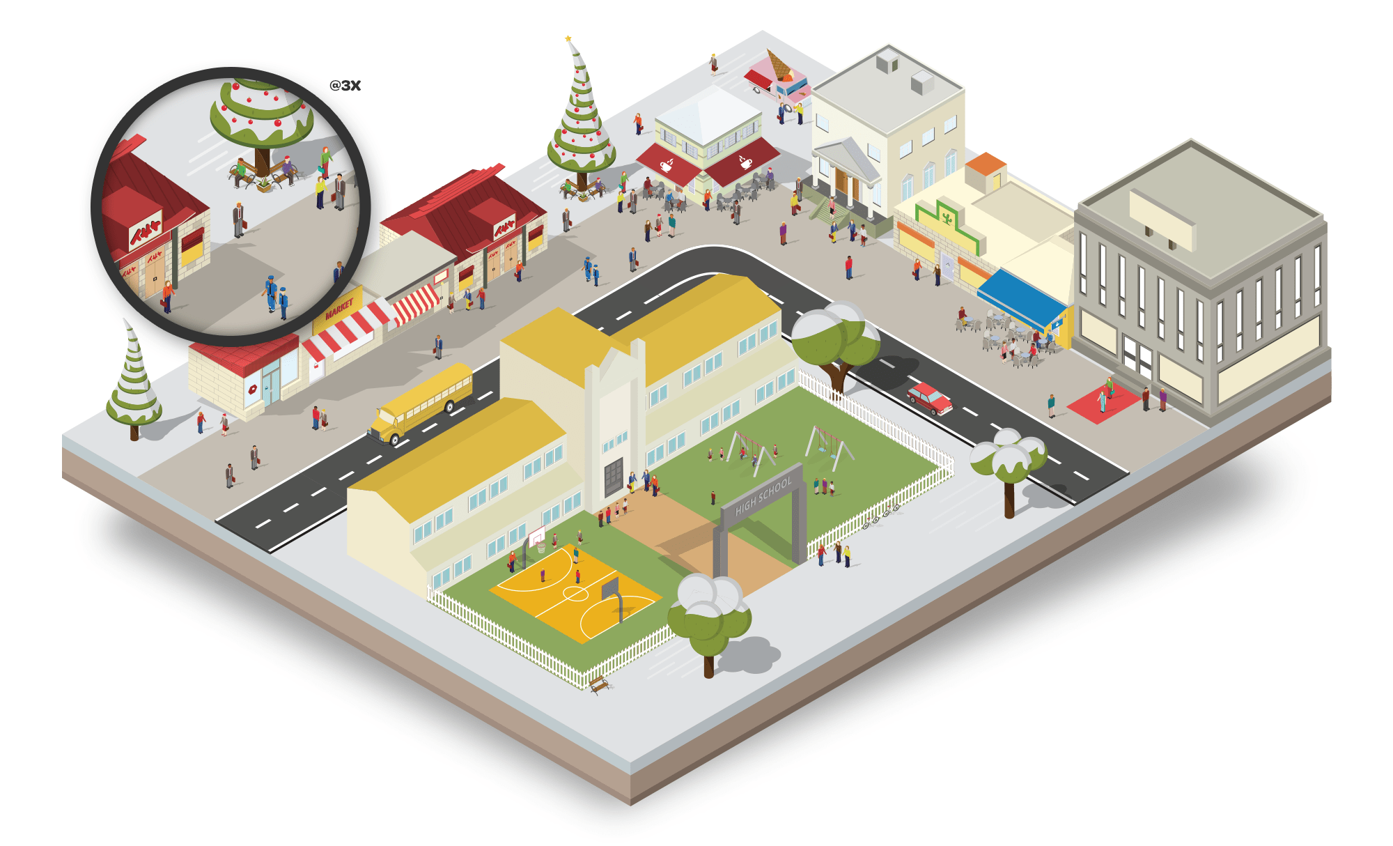 Christmas isometric city