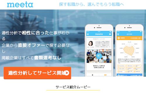 自分の性格に合った会社を探すならmeeta(ミータ)がオススメ!