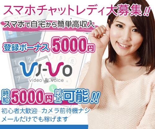 スマホで稼げるチャットサイト「VI-VO(ビーボ)」