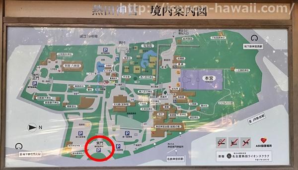 熱田神宮東門地図