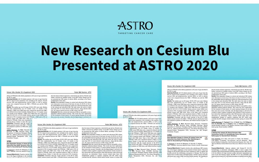 New Research on Cesium Blu Presented at ASTRO