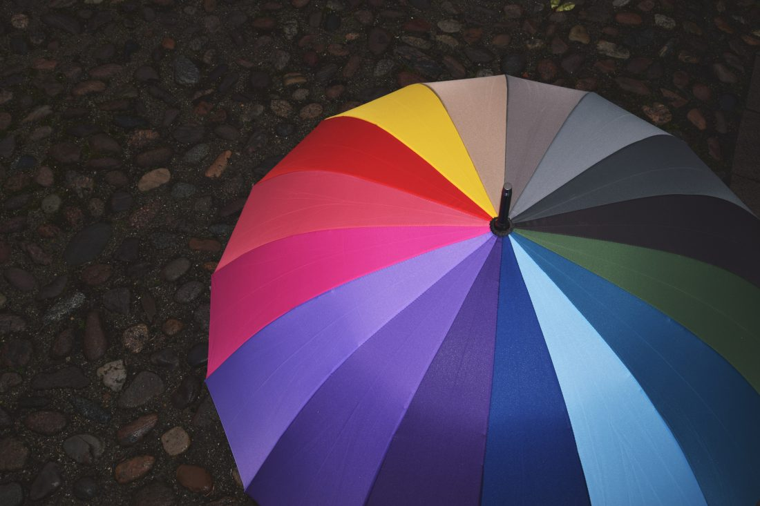 umbrella on rainy day