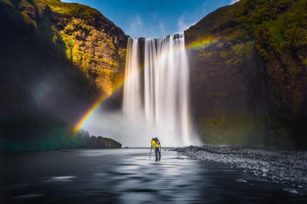 waterfall rainbow landscape free