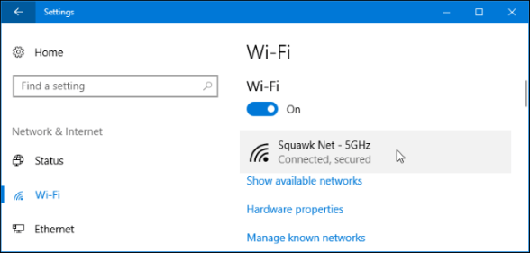 Set Up a Metered Connection in Windows 10