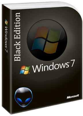 Download Windows 7 Black Edition ISO 32 / 64 Bit for free 1