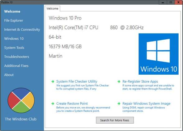 Where can you download FixWin 10 For Windows 10 for free