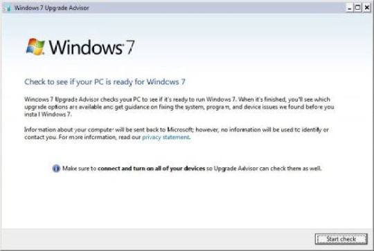 How to download Windows 7 Upgrade Advisor step by step process