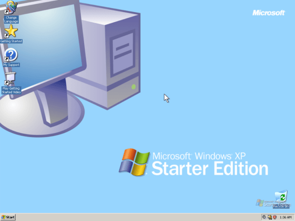 You can download Windows XP Starter Edition for free