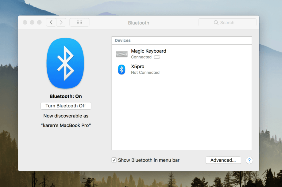 "Fixing a ""Bluetooth Not Available"" Error on a Mac"