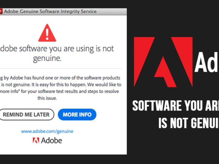Adobe Genuine Software Integrity Service Fix Windows