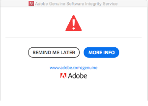 Fixed: Adobe Software you are using is not Genuine