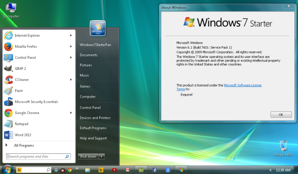 Download Windows 7 Starter ISO for free