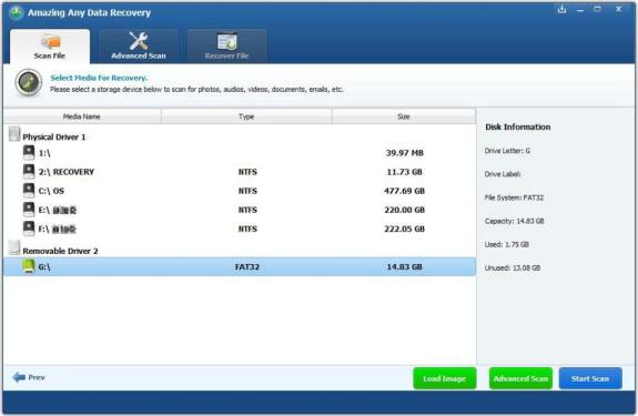 You can download Any Data Recovery for free
