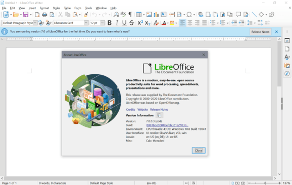 You can download LibreOffice 7 for free
