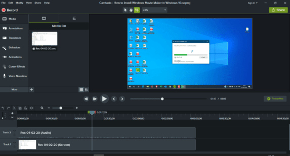 You can download Camtasia 2020  for free