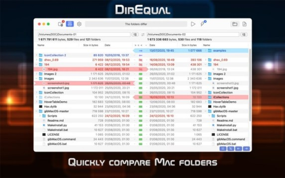 You can download DirEqual 3 for Mac