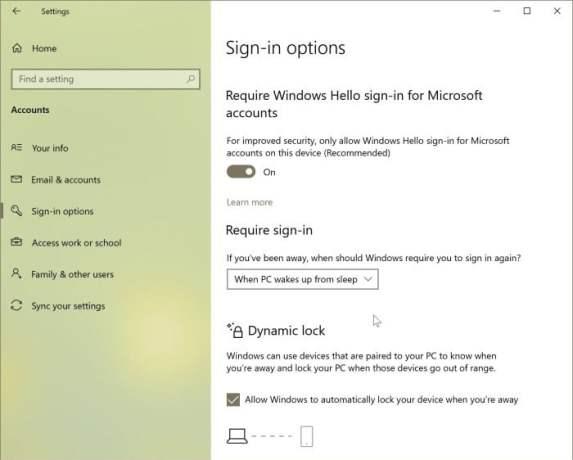 Windows 10 Security - Lock Screen option has gone