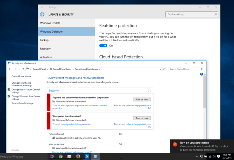 Turn On / Off Cloud Based Protection in Windows 10