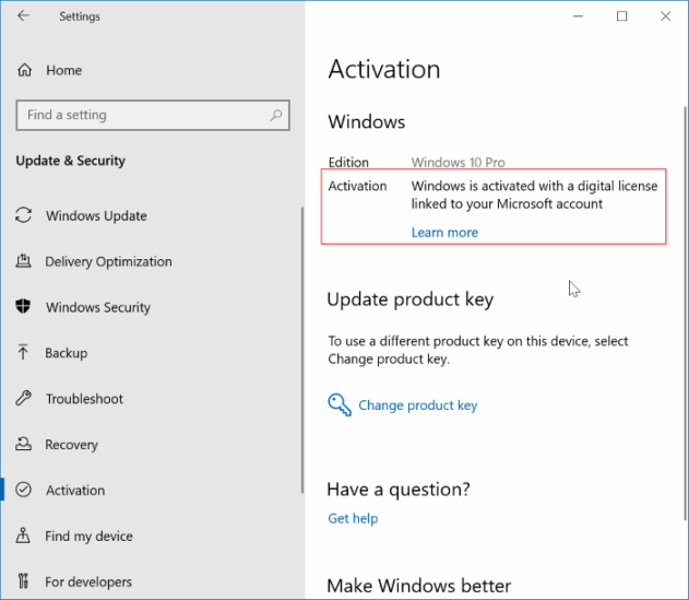 How to unlink my Windows license from my microsoft account