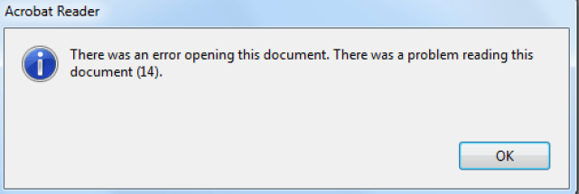 Solved: There was a problem reading this document error on Windows 10 2