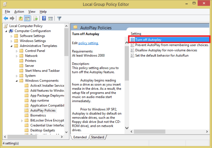 Disable the AutoRun feature in Windows 10 - Complete Guide 1