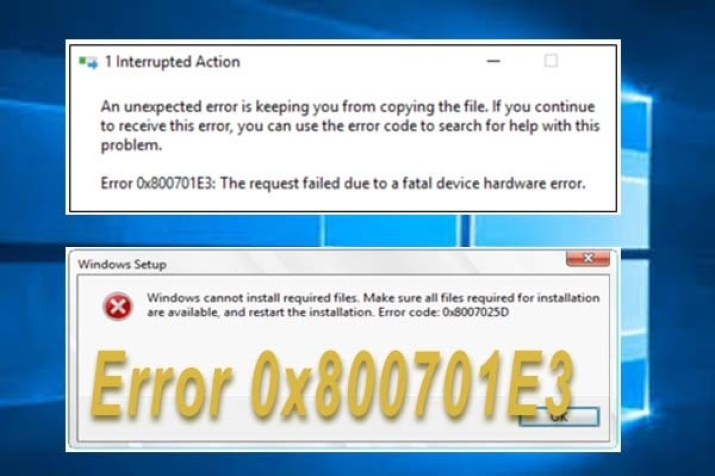 How to fix 0x800701E3 error in Windows 10 1