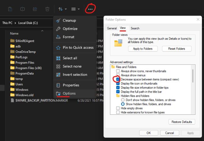 How to Restore File Explorer Classic Spacing in Windows 11 2