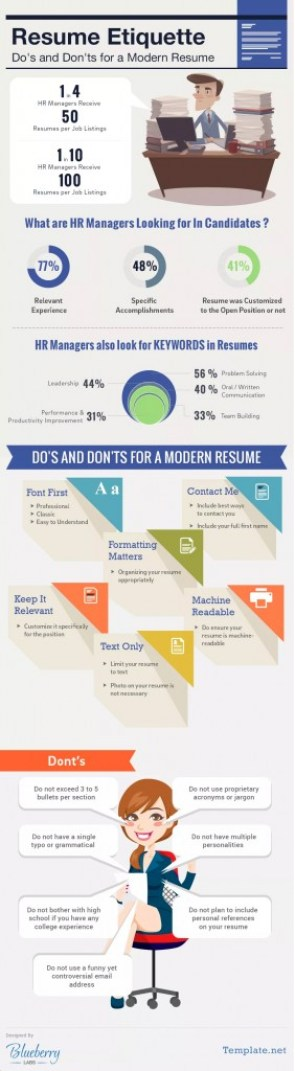The Do's and Don'ts of the Modern Resumé (Infographic)