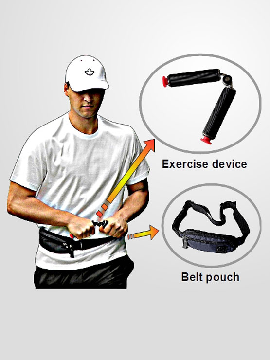 All what you need for ISO Walking is exercise device and belt pouch which is included