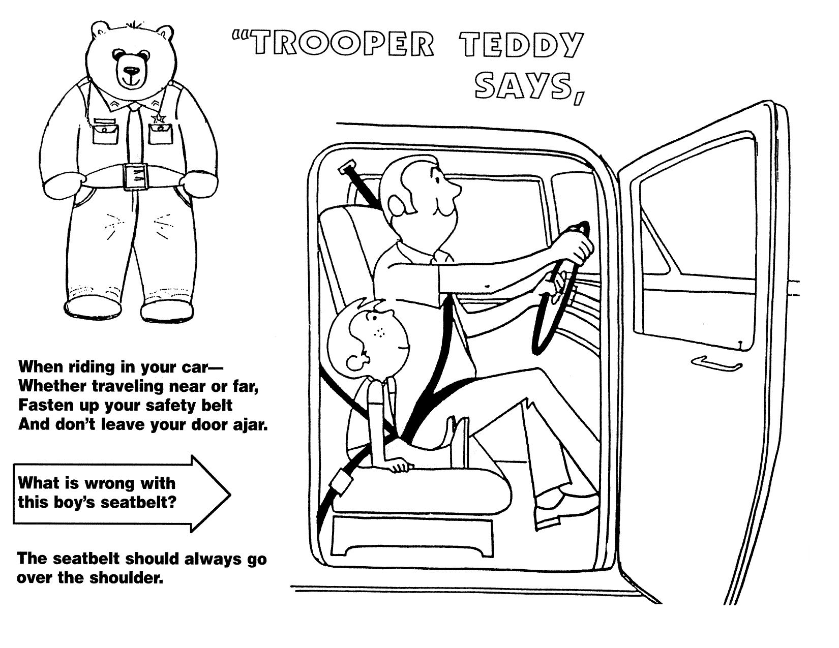 Seat Belt Safety Rules Worksheet