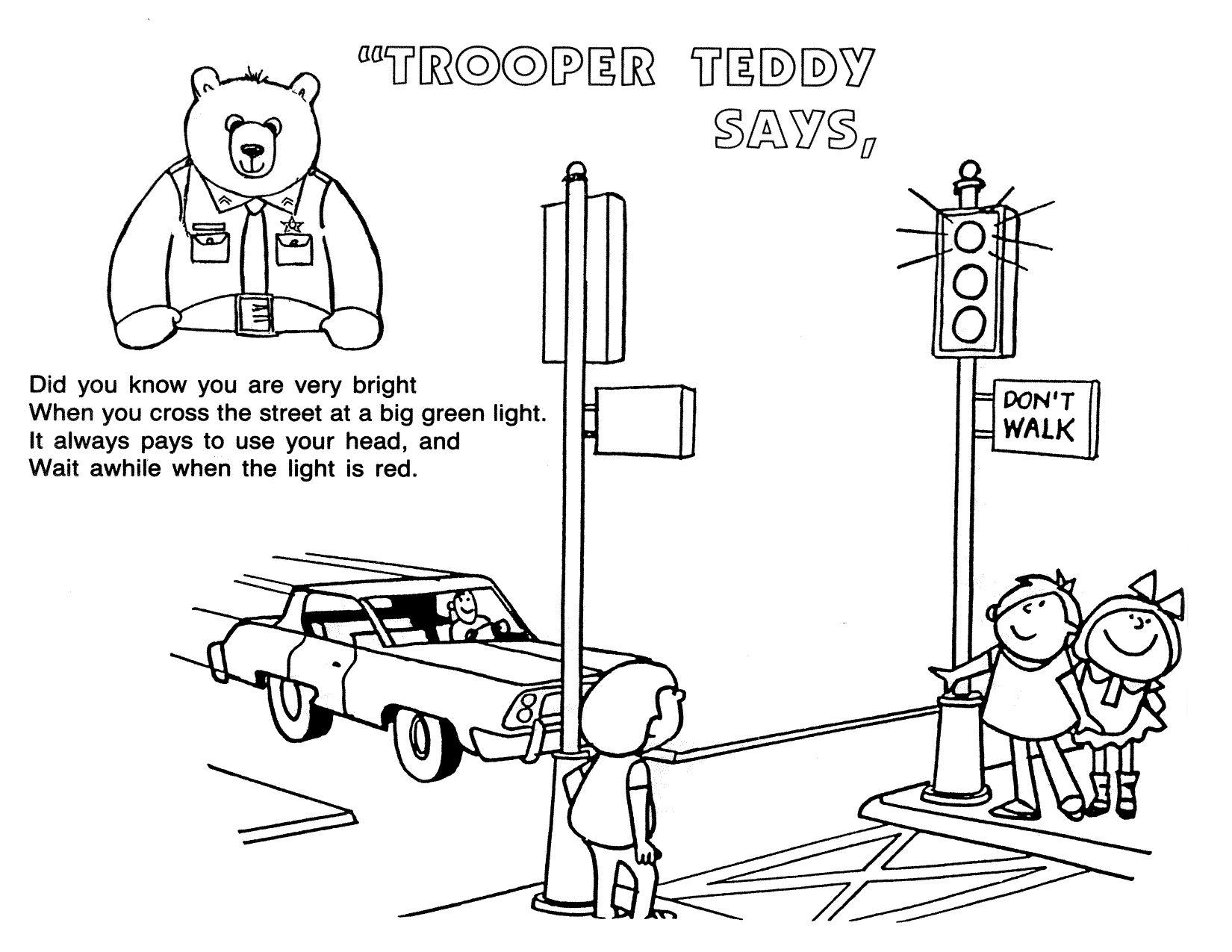Pedestrian Safety Preschool Worksheets