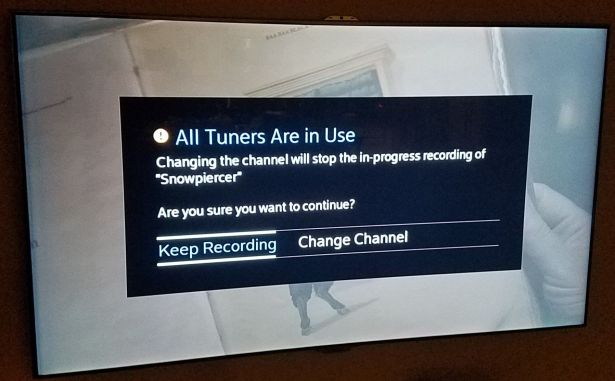Cox Contour Record 6 DVR All Tuners Are in Use Problem