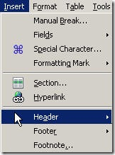 HeaderFooter OpenOffice