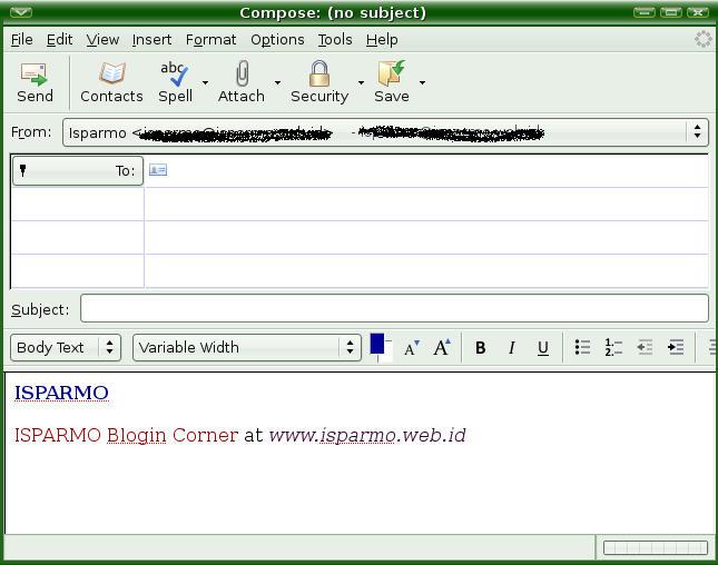 Membuat Signature Pada Mozilla Thunderbird Pembicara Internet