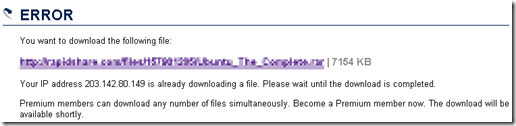 Rapidshare Error message2