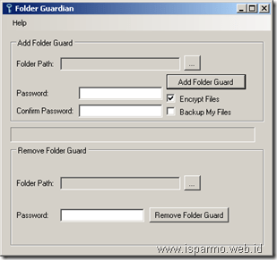 Folder Guardian, freeware folder security
