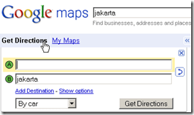 Google Maps get directions