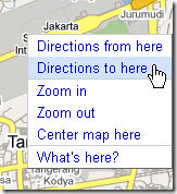 Google Maps directions to here