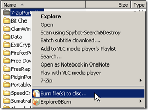 Explore&Burn, burning software,freeware