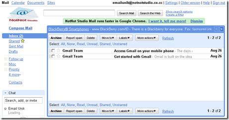 Email Unik Semau Gue, NotNot Studio