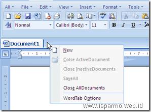 Cara menambah TAB menggunakan OfficeTab