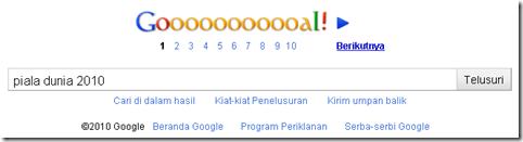 Google Piala Dunia 2010